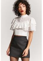 Textured Woven Mini Skirt