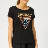 Reebok Women's Crossfit Neon Retro Easy Short Sleeve T-shirt - Black - Xs - Black
