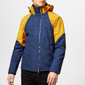 Superdry Men's Arctic Intron Hooded Windcheater - Golden Ochre/dark Blue - S - Blue