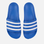 Adidas Men's Adilette Aqua Slide Sandals - True Blue - Uk 7 - Blue
