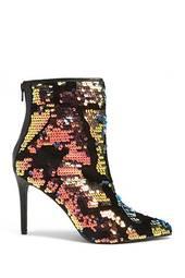 Velvet & Sequin Ankle Boots