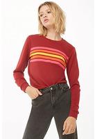 Rainbow-striped Sweatshirt