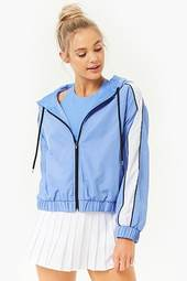 Active Striped-trim Windbreaker