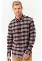 Plaid Slim-fit Flannel Shirt