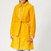 Tommy Hilfiger Women's Britt Hooded Trench Coat - Yellow - Xs - Yellow