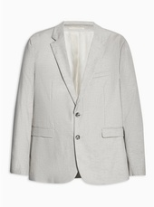 Stone Slim Fit Single Breasted Blazer With Notch Lapels