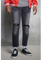 Ripped-knee Slim-fit Jeans