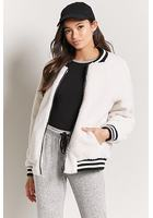 Faux Shearling Bomber Jacket