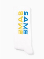 'same Same' Slogan Socks