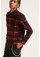 High-low Plaid Flannel Shirt