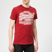 Superdry Men's Premium Goods T-shirt - Furnace Red - S - Red