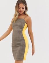 Minivestido Camisola A Cuadros De Glamorous