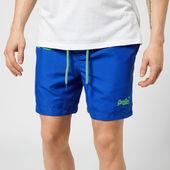 Superdry Men's Waterpolo Swim Shorts - Cobalt - S - Blue
