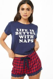 Life Is Better With Naps Graphic Pj Set