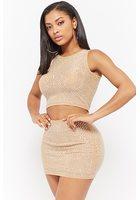 Studded Crop Top & Mini Skirt Set