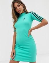 Vestido Verde Con Tres Rayas De Adidas Originals