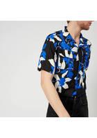 Edwin Men's Garage Short Sleeve Shirt - Blue/grey/black - M - Blue