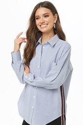 Pinstriped Button-up Shirt