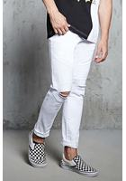 Slim-fit Ripped-knee Moto Jeans