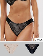 Pack De 2 Braguitas En Negro Y Blush Chloe De Dorina