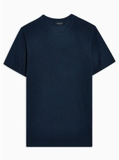 Selected Homme Navy Merino Knitted T-shirt