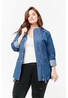 Plus Size Chambray Utility Jacket