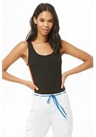 Ribbed Side-striped Bodysuit