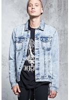 Zipper-hem Denim Jacket