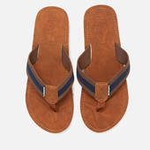Superdry Men's Cove 2.0 Flip Flops - Tan/brown/dark Navy - S/uk 6-7 - Tan
