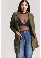 Plus Size Longline Blazer