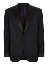Charlie Casely-hayford X Topman Navy Textured Dinner Jacket