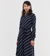 dd1abed15 Vestido Camisero Con Rayas Diagonales De Vero Moda Tall
