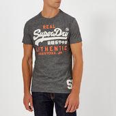 Superdry Men's Vintage Authentic Duo T-shirt - Black Grit - M - Black
