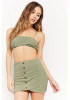 Ribbed Crop Top & Skirt Set