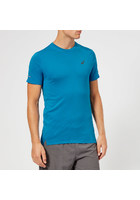 Asics Men's Seamless Short Sleeve Top - Race Blue Heather - S - Blue