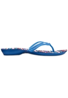 Crocs Flip Women Blue Jean/geo Crocs Isabella Graphic