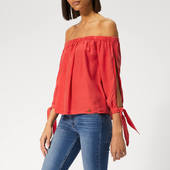 Superdry Women's Helena Top - Washed Red - Xs - Red