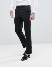 Pantalones De Esmoquin De Corte Slim En Negro De Asos