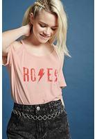 Roses Open-shoulder Tee