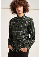 Fitted Tartan Pocket Shirt