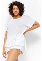Plus Size Burnout Slub Knit Tee