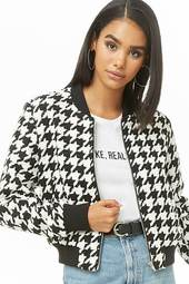 Houndstooth Bomber Jacket