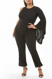 Plus Size One-sleeve Jumpsuit