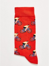 Orange 'bicycle' Socks