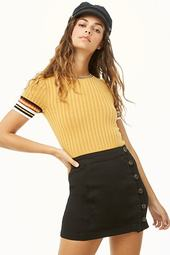 Button-loop Mini Skirt