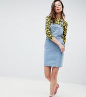 Vestido Estilo Peto En Azul Vintage De Asos Design Tall