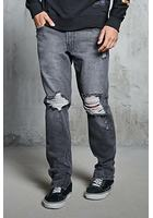 Ankle-zip Slim-fit Jeans