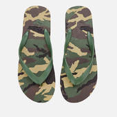 Armani Exchange Men's Printed Flip Flops - Military Green - Uk 8 - Green