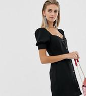 Vestido Con Escote En Forma De Corazón Y Botones Delanteros De Reclaimed Vintage Inspired