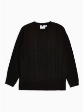 Black Cable Knitted Jumper